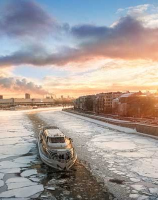 Moskau Bootsfahrt