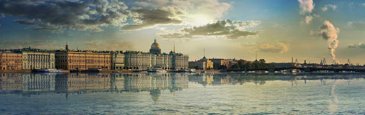 Palast Ufer in St. Petersburg