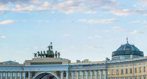St. Petersburg Reise. Dvorzovaya Platz.