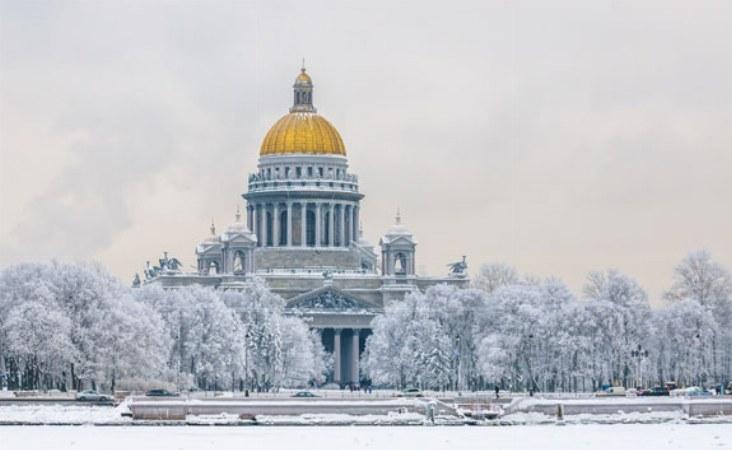 Reise nach St. Petersburg. St. Isaak Kathedrale.