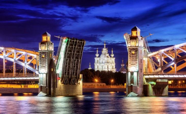 Reise nach St Petersburg. Newa.